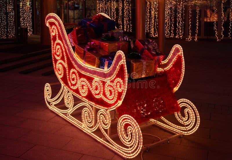 έλκηθρο santa δώρων Claus στοκ φωτογραφίες με δικαίωμα ελεύθερης χρήσης