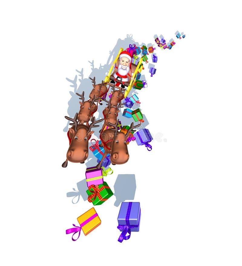 έλκηθρο santa Claus διανυσματική απεικόνιση