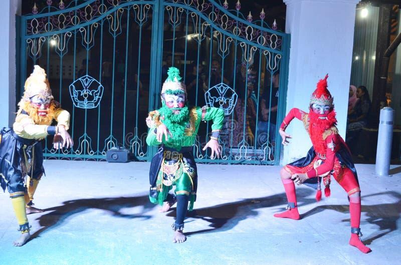 Έλξη χορού Ramayana στο εργαστήριο Jogja Culturestock στοκ εικόνα