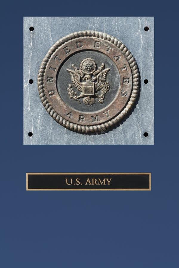 Έμβλημα αμερικάνικων στρατών στοκ φωτογραφία με δικαίωμα ελεύθερης χρήσης
