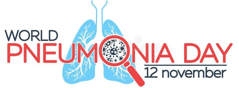 Έμβλημα για το pneumoni απεικόνιση αποθεμάτων