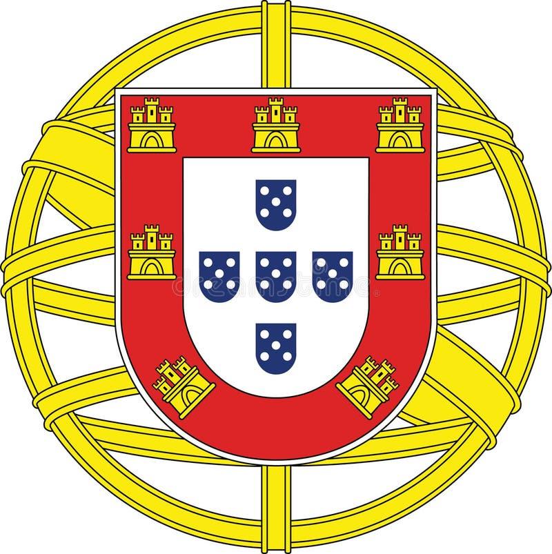 έμβλημα εθνική Πορτογαλί&alp στοκ εικόνες