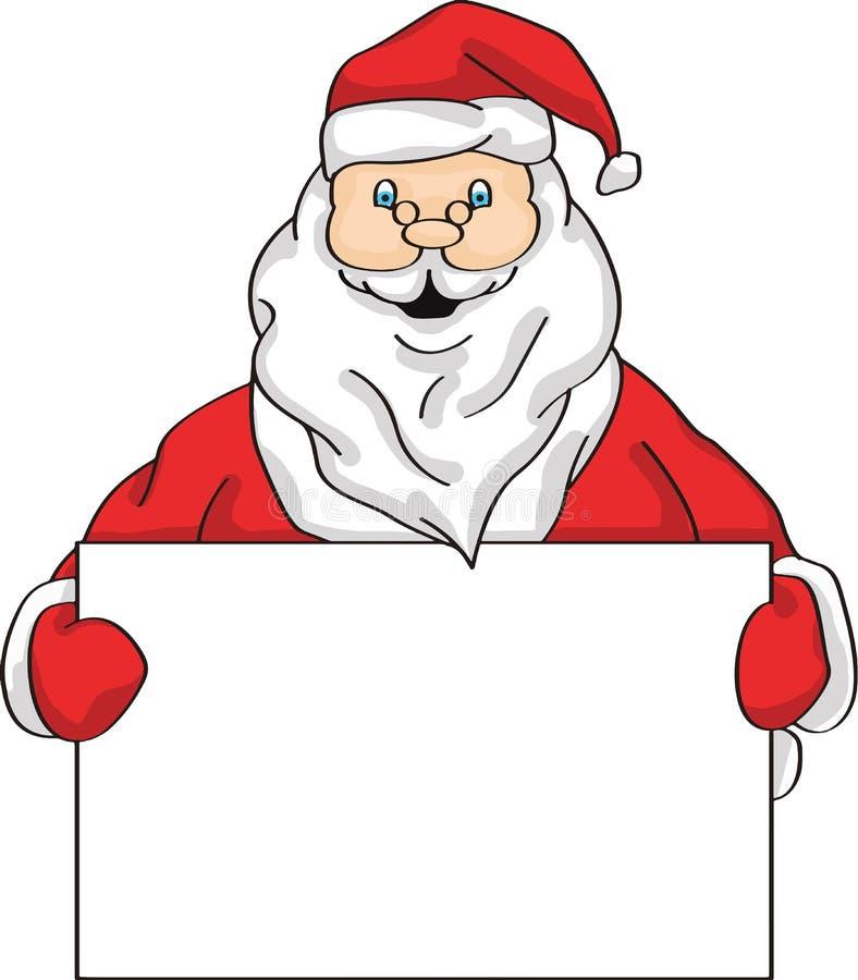 Έμβλημα επίδειξης εκμετάλλευσης Santa στοκ φωτογραφία με δικαίωμα ελεύθερης χρήσης