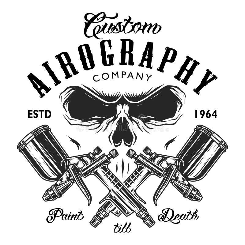 Έμβλημα επιχείρησης aerography συνήθειας απεικόνιση αποθεμάτων