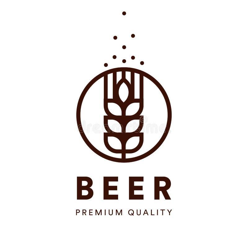 Έμβλημα ζυθοποιείων Διανυσματικό λογότυπο μπύρας τεχνών Αγγλική μπύρα εξαιρετικής ποιότητας, ποτό alkohol logotype ελεύθερη απεικόνιση δικαιώματος
