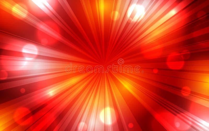 Έμβλημα ιπτάμενων αφισών υποβάθρου έκρηξης κόκκινου χρώματος διανυσματική απεικόνιση