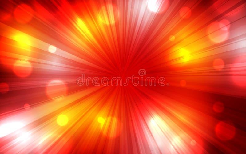 Έμβλημα ιπτάμενων αφισών υποβάθρου έκρηξης κόκκινου χρώματος απεικόνιση αποθεμάτων