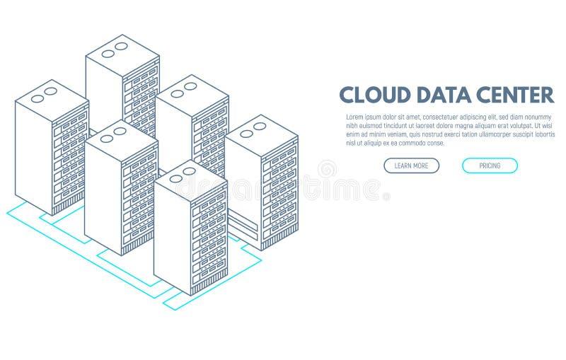 Έμβλημα κέντρων δεδομένων ελεύθερη απεικόνιση δικαιώματος