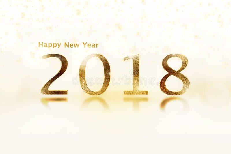 Έμβλημα καλής χρονιάς με 2018 αριθμούς στοκ φωτογραφίες