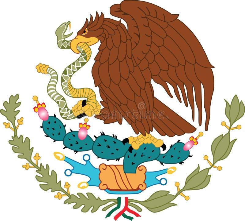 έμβλημα Μεξικό εθνικό στοκ εικόνες