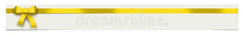 Έμβλημα με την κίτρινη κορδέλλα και θέση για το κείμενό σας ελεύθερη απεικόνιση δικαιώματος