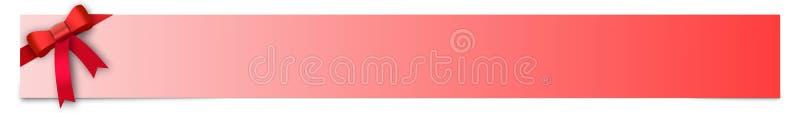 Έμβλημα με την κόκκινη κορδέλλα και θέση για το κείμενό σας διανυσματική απεικόνιση