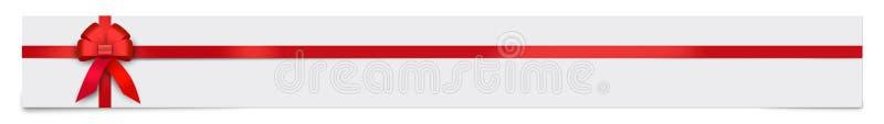 Έμβλημα με την κόκκινη κορδέλλα και θέση για το κείμενό σας ελεύθερη απεικόνιση δικαιώματος