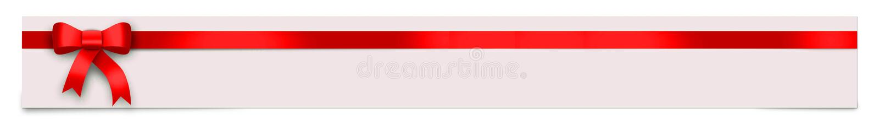 Έμβλημα με την κόκκινη κορδέλλα και θέση για το κείμενό σας απεικόνιση αποθεμάτων