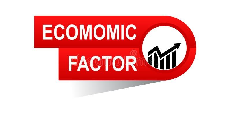 Έμβλημα οικονομικού παράγοντα διανυσματική απεικόνιση
