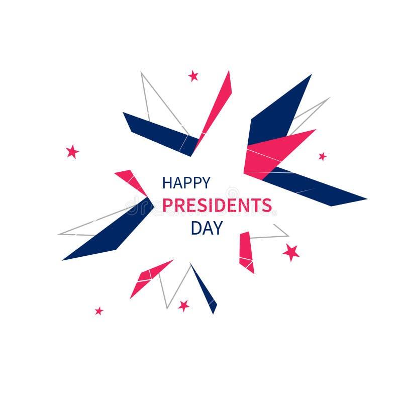 Έμβλημα Προέδρων Day στο αφηρημένο ύφος απεικόνιση αποθεμάτων