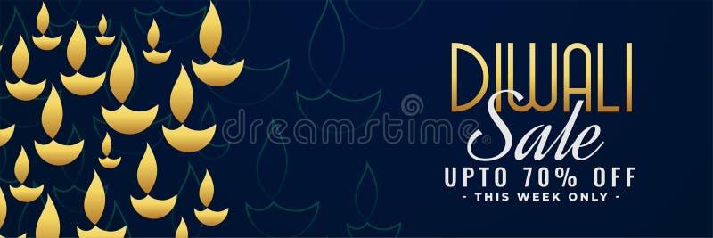 Έμβλημα πώλησης Diwali με τις λεπτομέρειες προσφοράς ελεύθερη απεικόνιση δικαιώματος