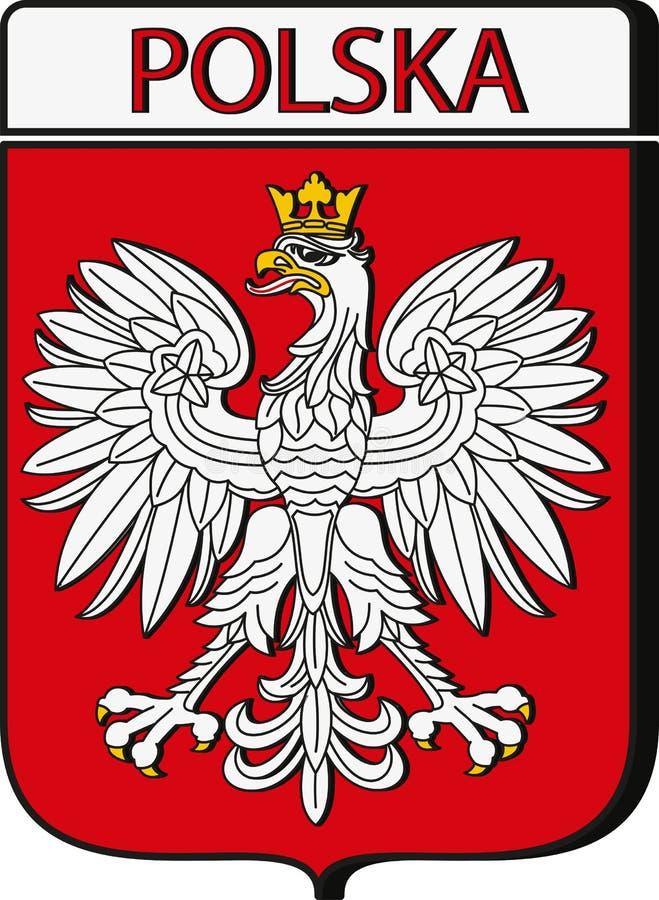 Έμβλημα της Πολωνίας διανυσματική απεικόνιση