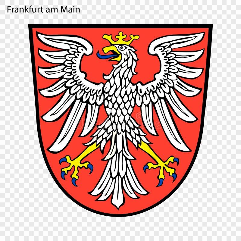 Έμβλημα της Φρανκφούρτης Αμ Μάιν απεικόνιση αποθεμάτων