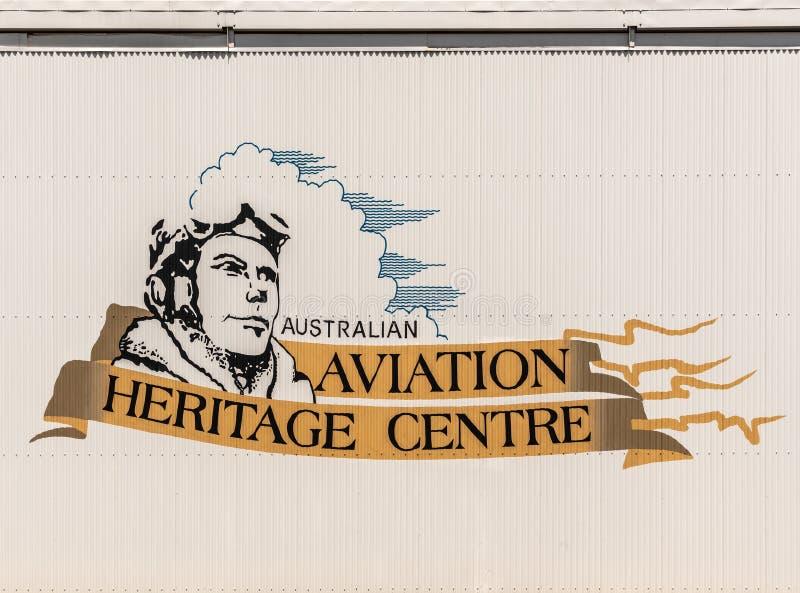 Έμβλημα του αυστραλιανού κέντρου κληρονομιάς αεροπορίας, Δαρβίνος στοκ εικόνες με δικαίωμα ελεύθερης χρήσης