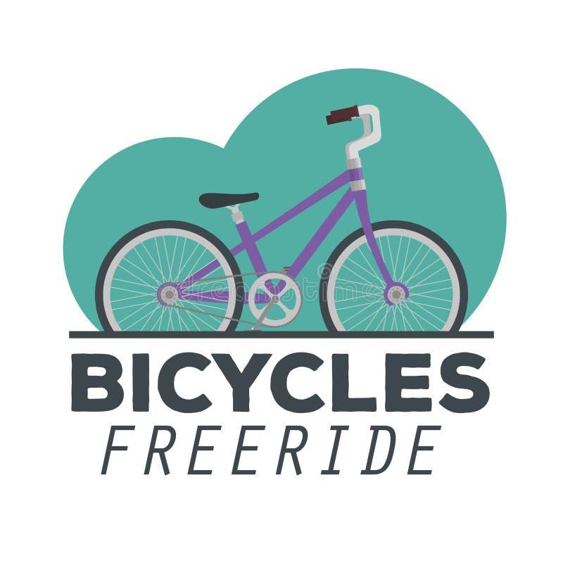 Έμβλημα του σχεδίου οχημάτων μεταφορών ποδηλάτων απεικόνιση αποθεμάτων