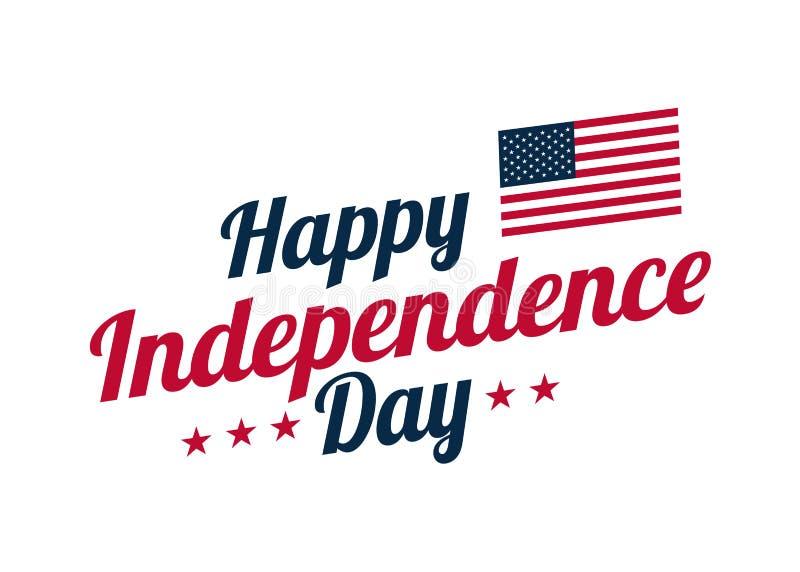 Έμβλημα υποβάθρου για την 4η Ιουλίου, ημέρα της ανεξαρτησίας ΑΜΕΡΙΚΑΝΙΚΟΣ εορτασμός Διανυσματική ευτυχής ημέρα της ανεξαρτησίας σ ελεύθερη απεικόνιση δικαιώματος