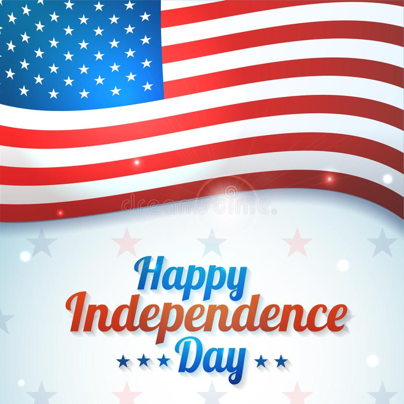 Έμβλημα υποβάθρου για την 4η Ιουλίου, ημέρα της ανεξαρτησίας ΑΜΕΡΙΚΑΝΙΚΟΣ εορτασμός Διανυσματική ευτυχής ημέρα της ανεξαρτησίας σ διανυσματική απεικόνιση