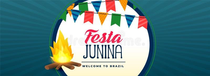 Έμβλημα φεστιβάλ φωτιών junina Festa ελεύθερη απεικόνιση δικαιώματος