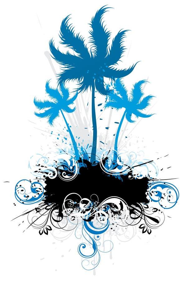 έμβλημα floral πέρα από τους φοίν&iota απεικόνιση αποθεμάτων