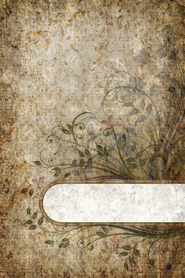 έμβλημα floral απεικόνιση αποθεμάτων