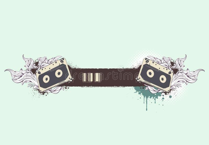 έμβλημα grunge μουσικό ελεύθερη απεικόνιση δικαιώματος