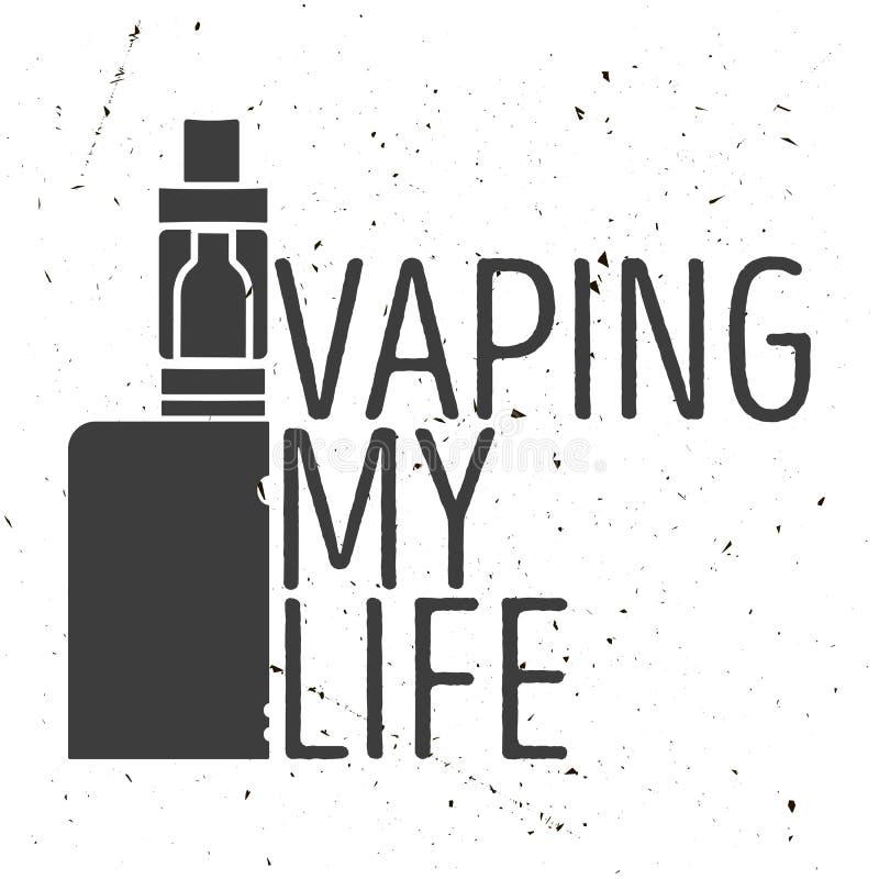 Έμβλημα ή αφίσα ενός ηλεκτρονικού τσιγάρου ελεύθερη απεικόνιση δικαιώματος