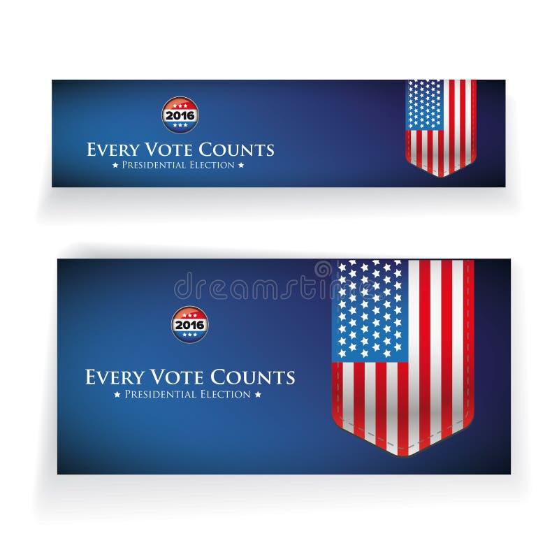Έμβλημα ή αφίσα προεδρικών εκλογών 2016 ελεύθερη απεικόνιση δικαιώματος