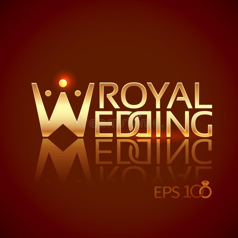 Έμβλημα ή λογότυπο για τα γαμήλια στούντιο ελεύθερη απεικόνιση δικαιώματος