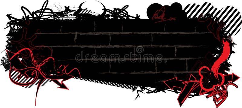 Έμβλημα γκράφιτι απεικόνιση αποθεμάτων