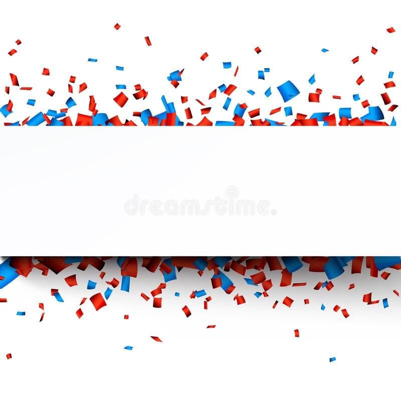 Έμβλημα εορτασμού εγγράφου κομφετί ελεύθερη απεικόνιση δικαιώματος