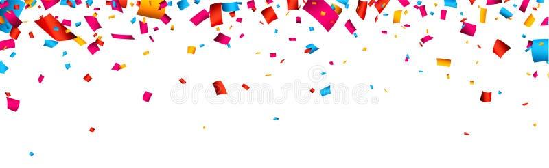 Έμβλημα εορτασμού κομφετί απεικόνιση αποθεμάτων
