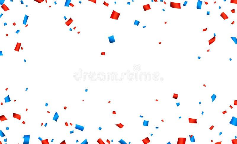 Έμβλημα εορτασμού πλαισίων κομφετί διανυσματική απεικόνιση