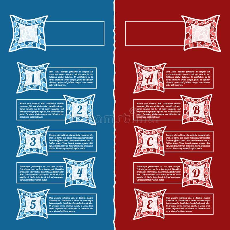 Έμβλημα επιλογών infographics μωσαϊκών doodle ελεύθερη απεικόνιση δικαιώματος