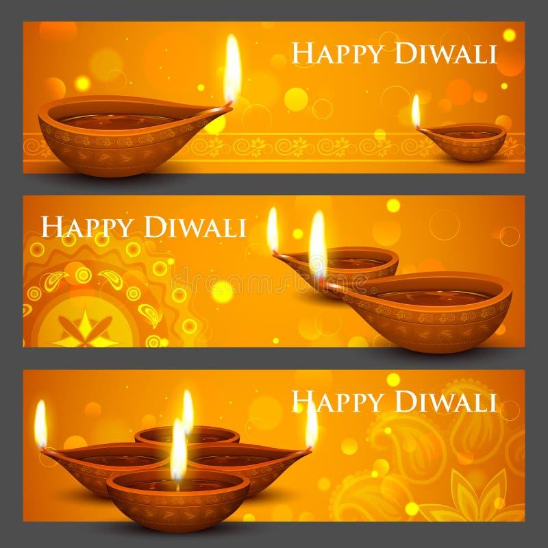 Έμβλημα διακοπών Diwali ελεύθερη απεικόνιση δικαιώματος