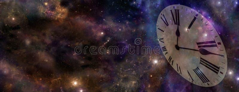 Έμβλημα ιστοχώρου διαστήματος και χρόνου στοκ φωτογραφία με δικαίωμα ελεύθερης χρήσης