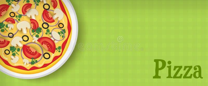 Έμβλημα με την πίτσα απεικόνιση αποθεμάτων