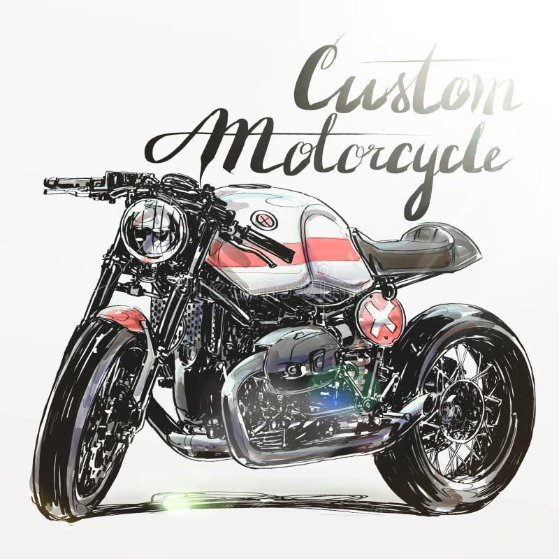 Έμβλημα μοτοσικλετών συνήθειας στοκ εικόνες