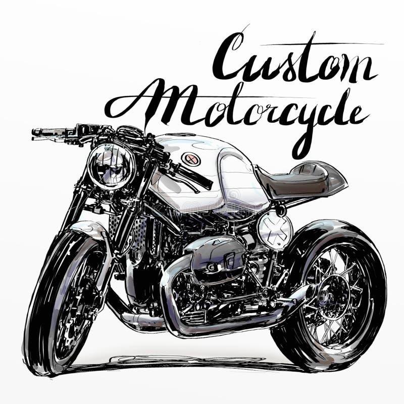 Έμβλημα μοτοσικλετών συνήθειας στοκ φωτογραφία