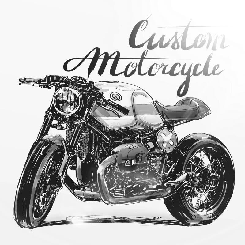 Έμβλημα μοτοσικλετών συνήθειας στοκ εικόνα