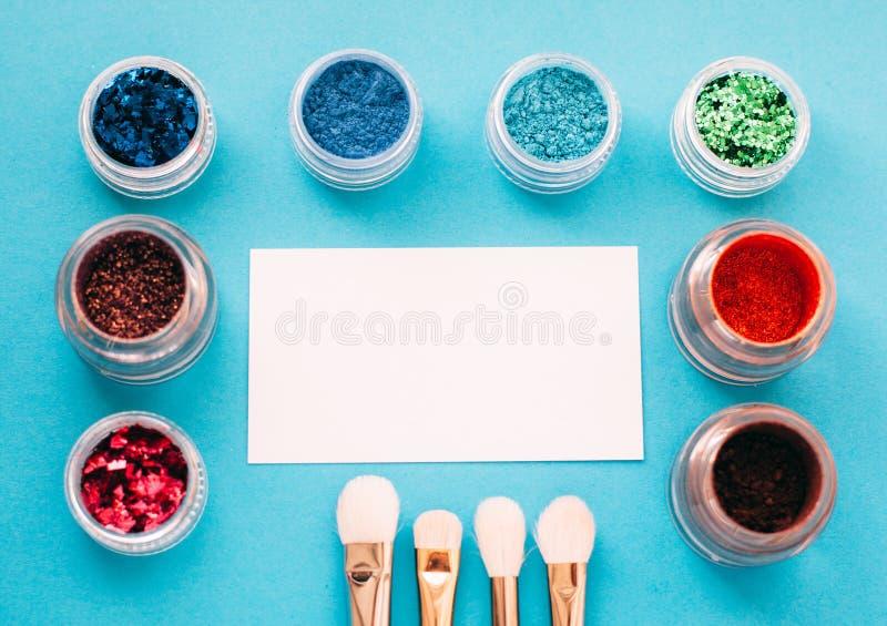 Έμβλημα που διαφημίζει για τον καλλιτέχνη makeup στοκ εικόνα με δικαίωμα ελεύθερης χρήσης