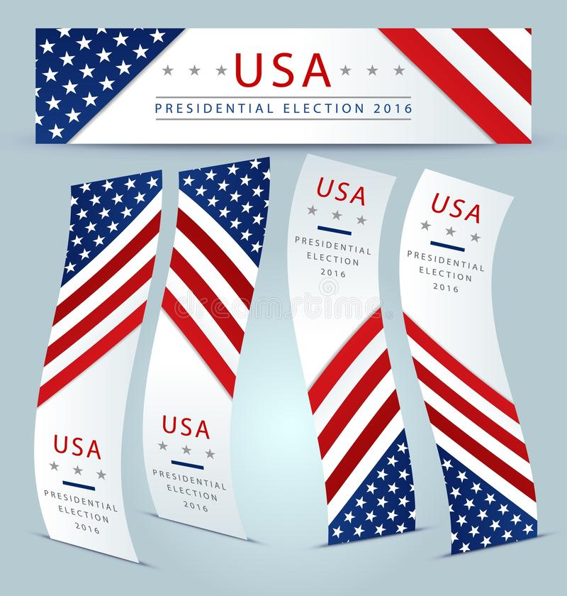 Έμβλημα 2016 προεδρικών εκλογών απεικόνιση αποθεμάτων