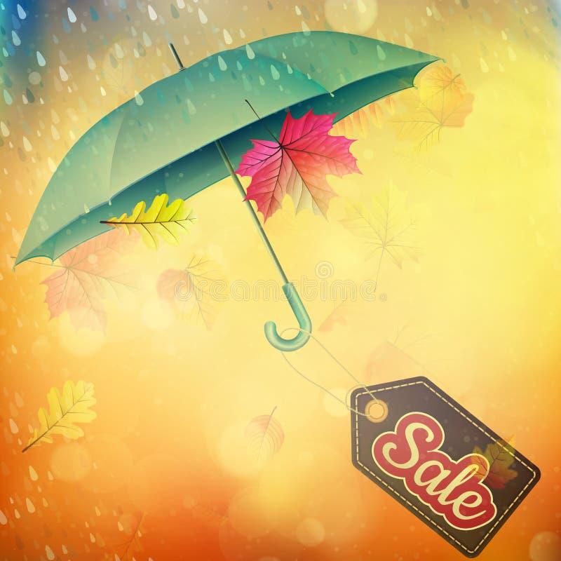 Έμβλημα πωλήσεων φθινοπώρου 10 eps διανυσματική απεικόνιση