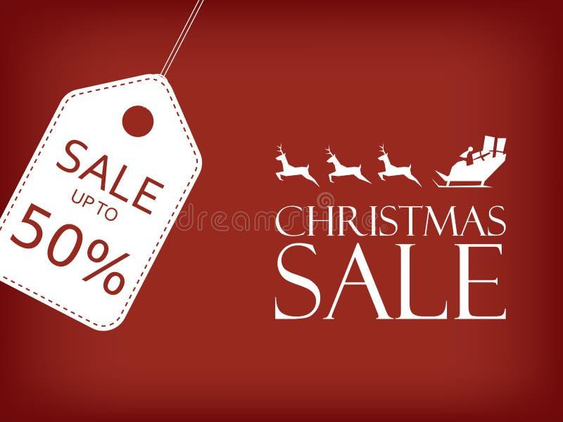 Έμβλημα πώλησης Χριστουγέννων Διάνυσμα πωλήσεων διακοπών διανυσματική απεικόνιση