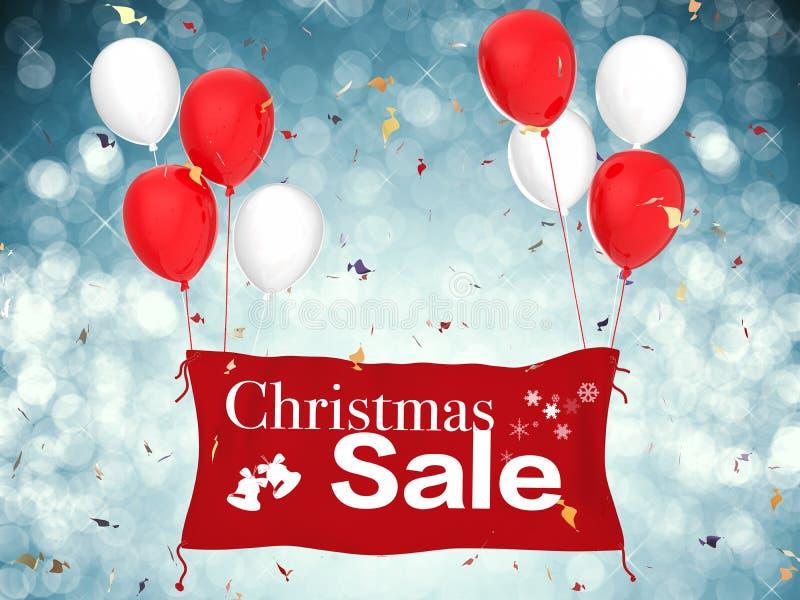 Έμβλημα πώλησης Χριστουγέννων διανυσματική απεικόνιση